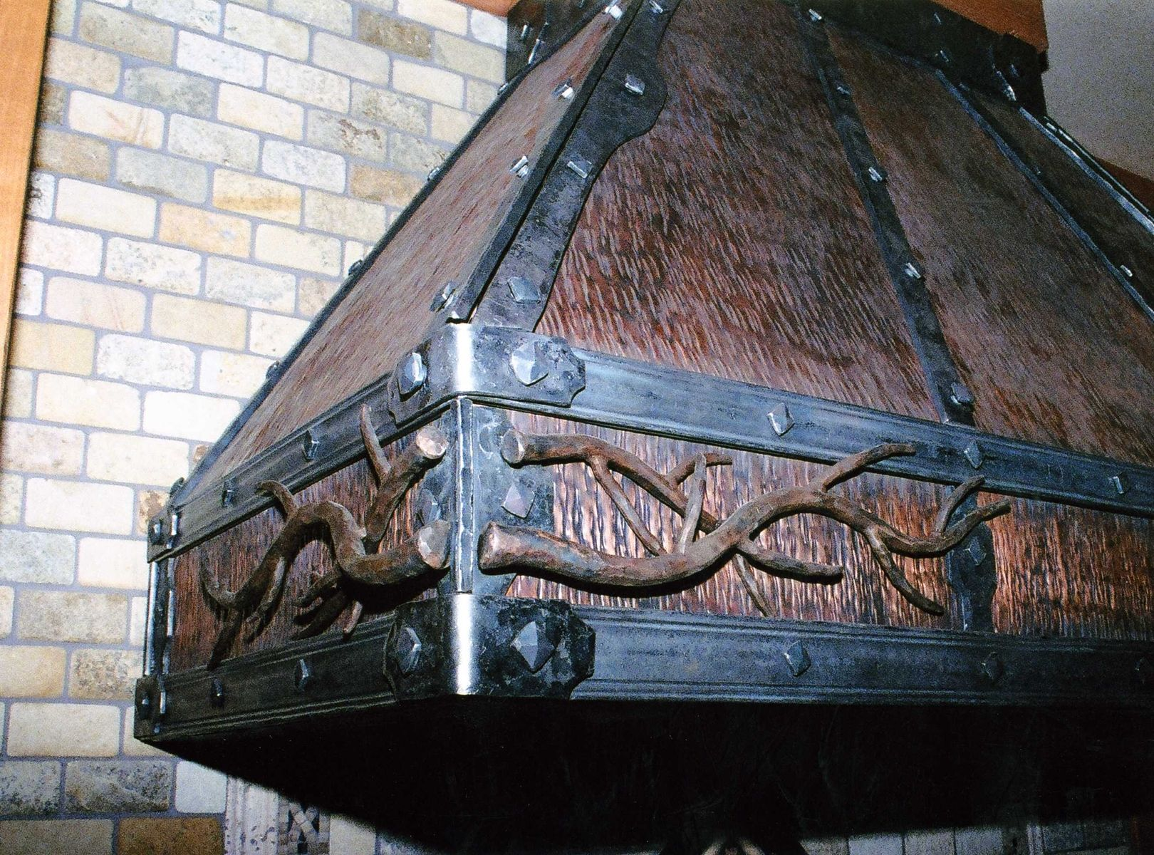 Hand Made Hand Forged Iron & Copper Metal Range Hood by Cabinets & Design Iron Llc CustomMade.com