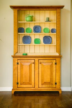 Custom Made Tiger Maple Hutch