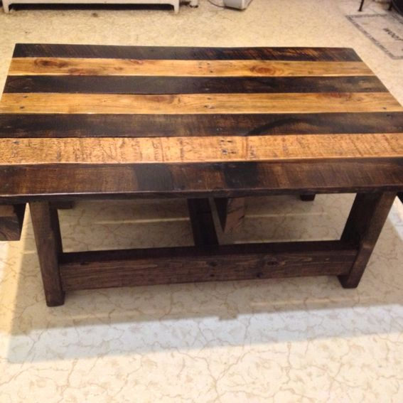 Hand Crafted Handmade Reclaimed Rustic Pallet Wood Coffee