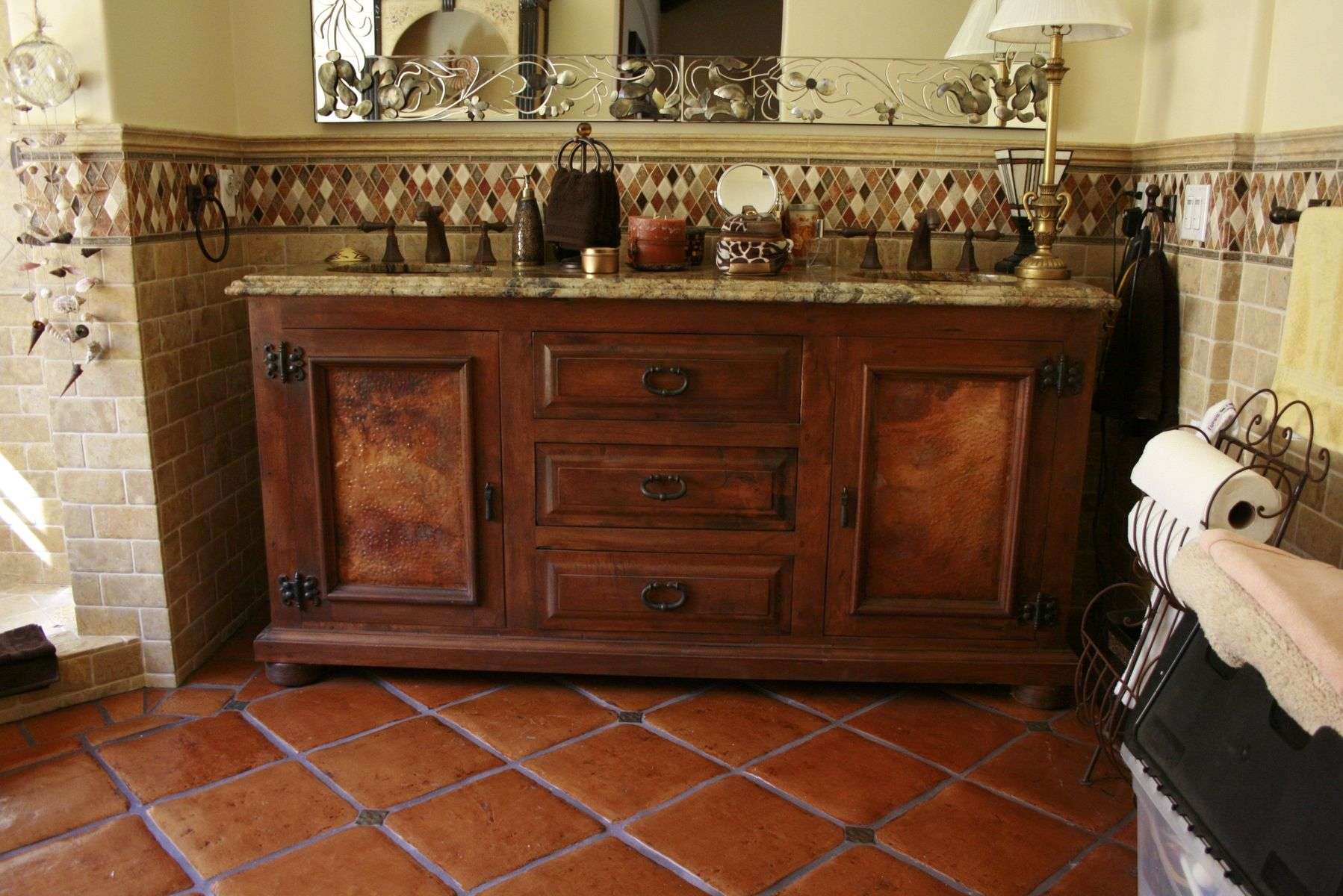 Hand Made Mesquite Vanity By Demejico Inc Manufactures