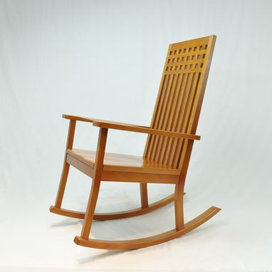 hand made modern cherry rocking chair by glessboards
