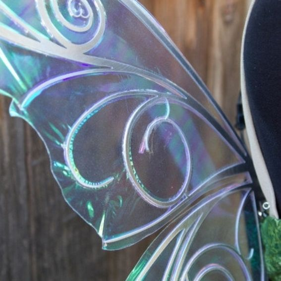Hand Made Tinkerbell Pixie Print Dress With Light Up Fairy ...