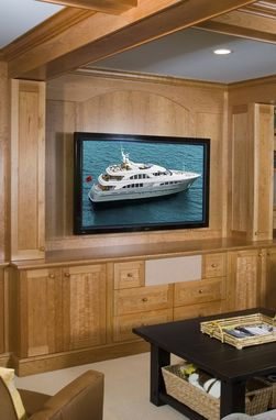Custom Made Integrated Entertainment Center