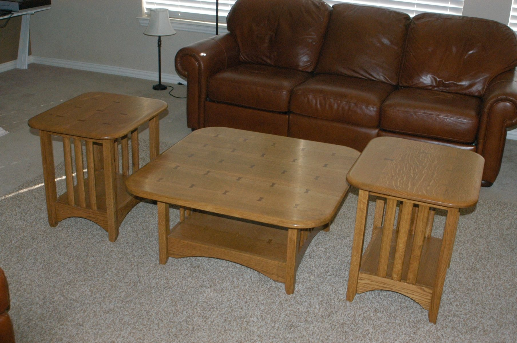 Hand Crafted Mission Style Coffee Table And End Tables Quarter Sawn White Oak By Prg Designs