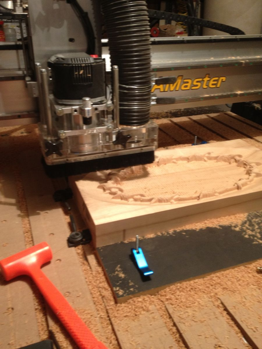 Custom made thick maple cnc carving by raw creations
