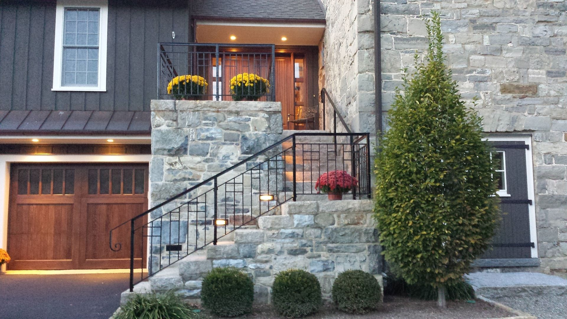 Custom Exterior Forged Iron Railing By Braddee Metal Works