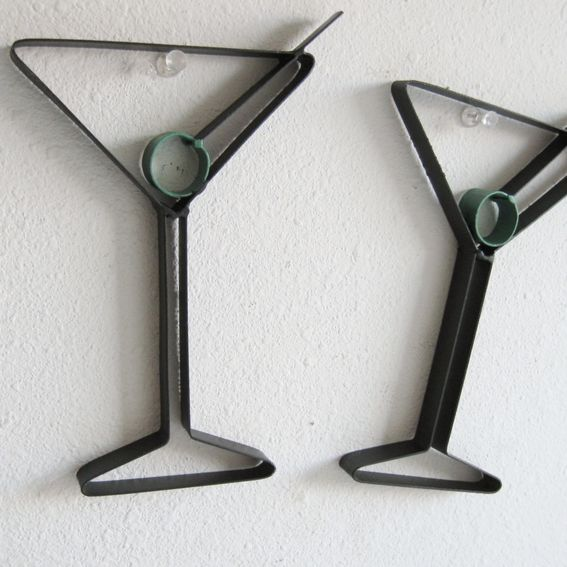 Martini Glass Wall Sconces : Custom Made Martini Glass Metal Wall Decor by Just 4 the Art of It CustomMade.com