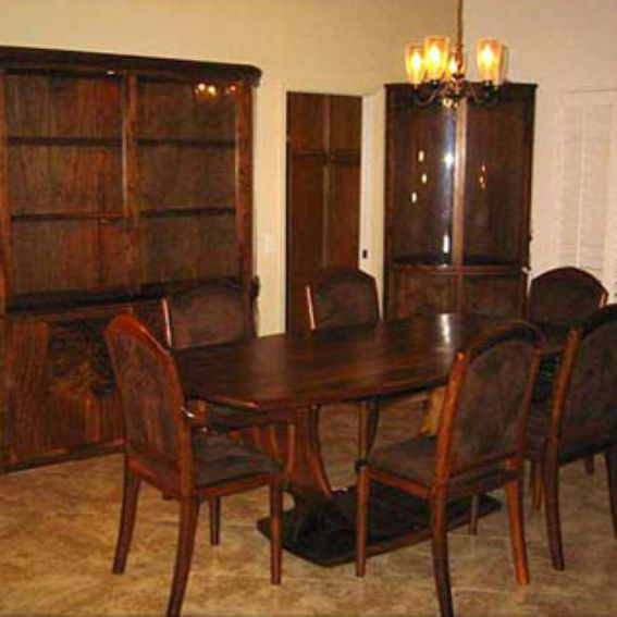 Dining Room Sets Black: Custom Black Walnut Dining Room Set By Shangri La