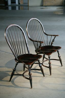 Custom Made Formal Black English Windsor Dining Chair