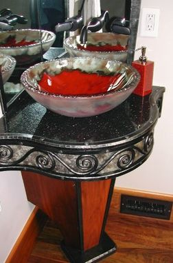 Custom Made Wrought Iron Sink Stand