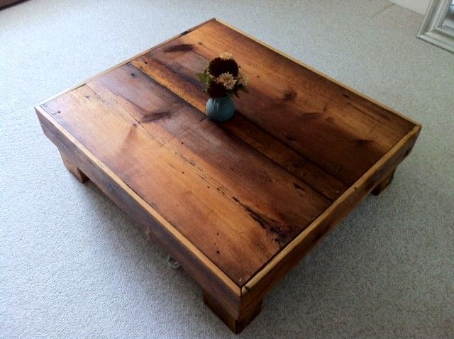 Hand made oversized barn board coffee table by for Barn board coffee table