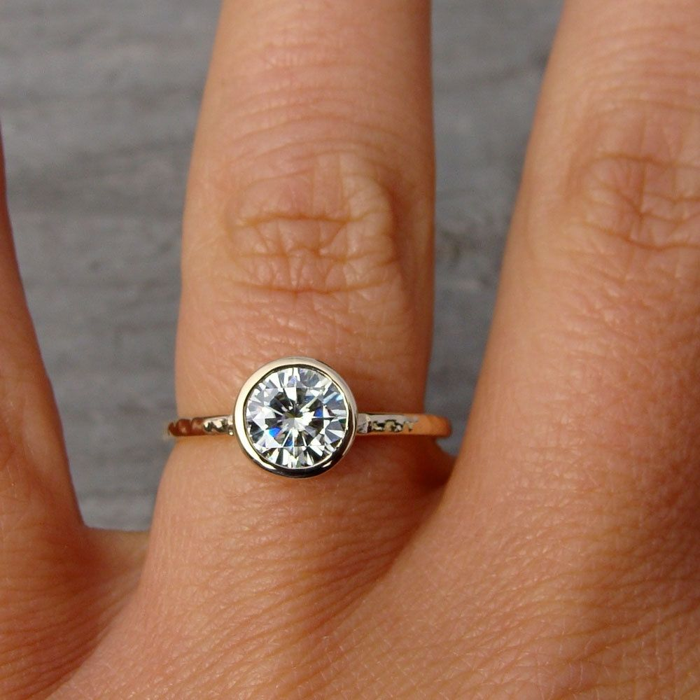 Handmade Forever Brilliant Moissanite Engagement Ring ...