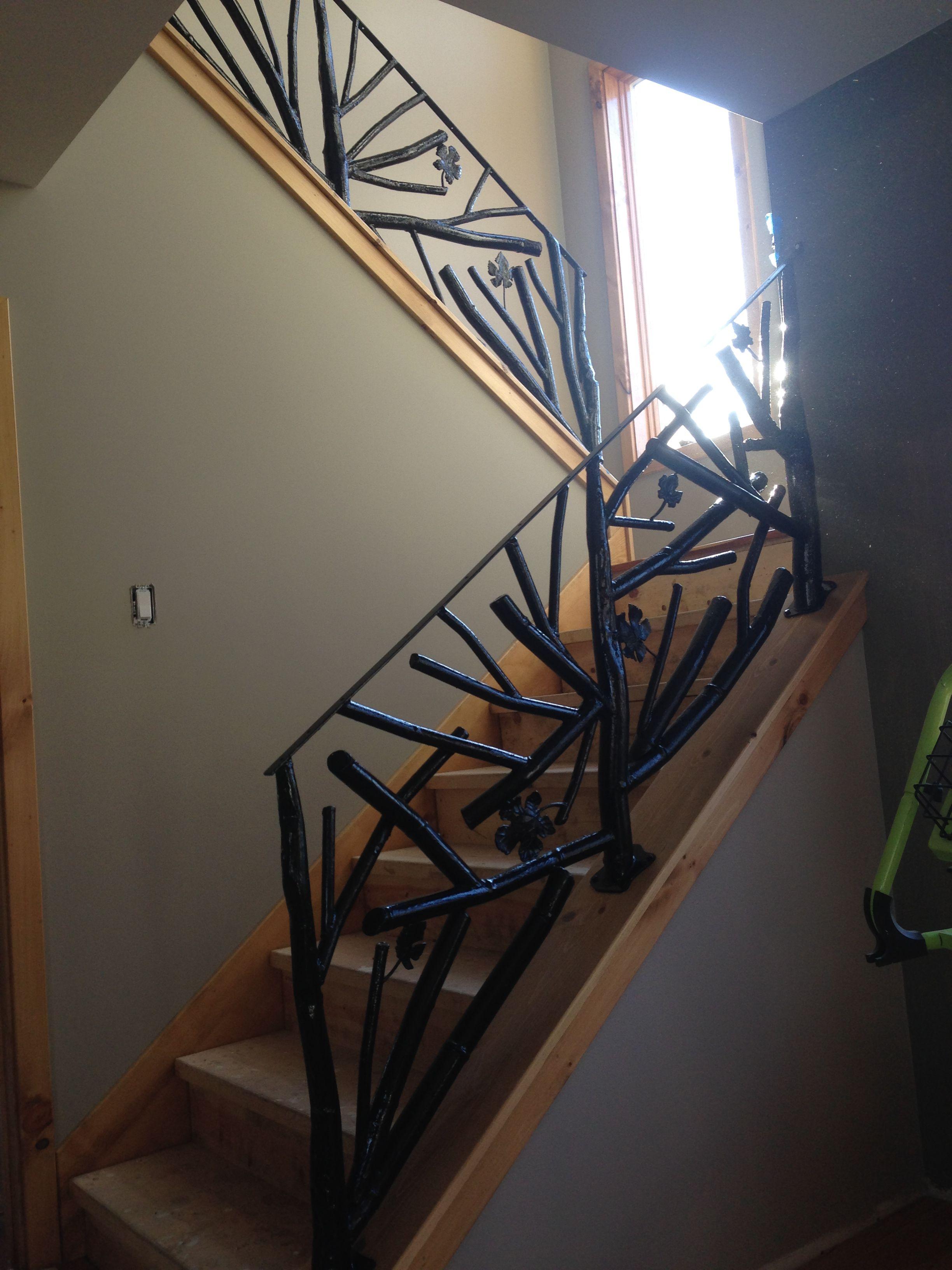Custom Made Tree Branch Metal Railing By Decorative Metal