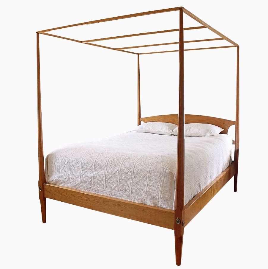 Antique Pencil Post Rice Bed Gray White And Copper Bedroom: Hand Made Pencil Post Bed By Devin W Ream Fine Furniture