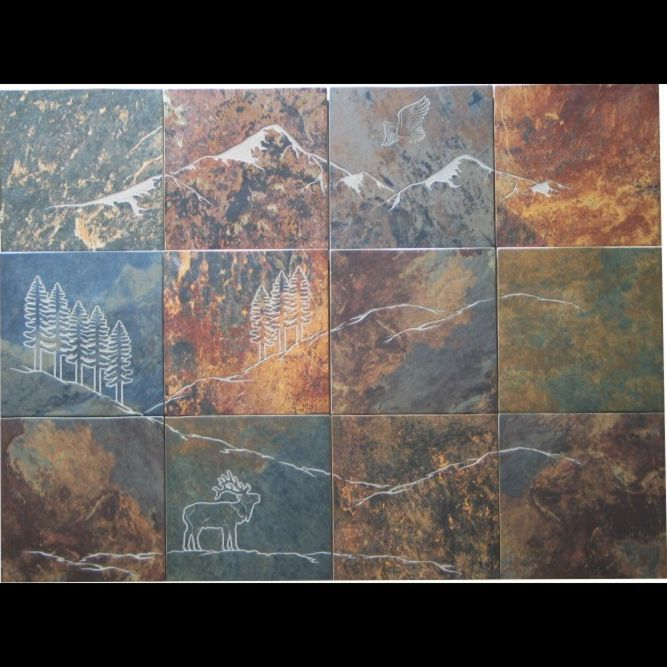 Handmade custom tile porcelain mural by artisan for Custom tile mural