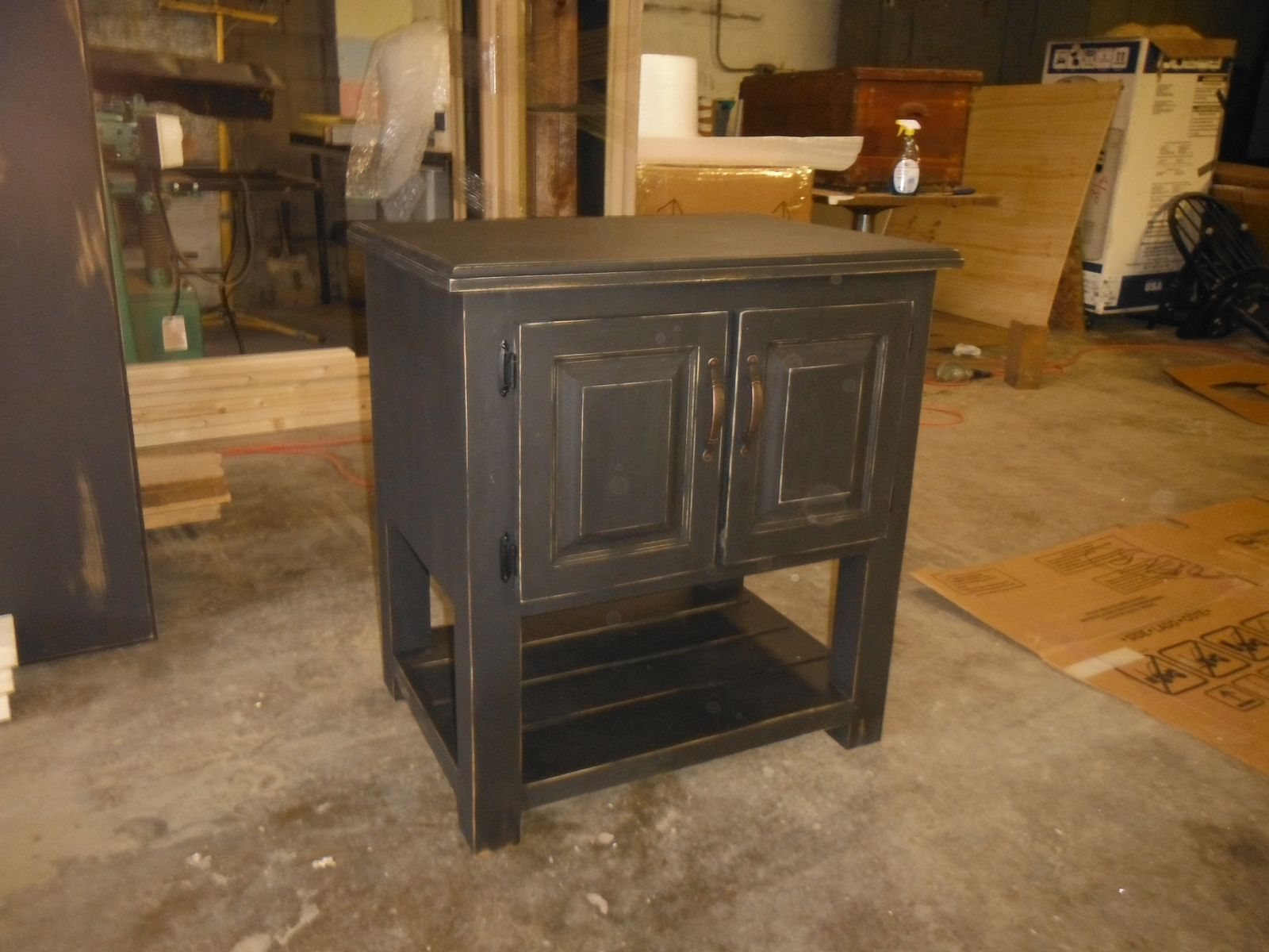 Hand Crafted Vessel Sink Vanity By Rustic DeZigns