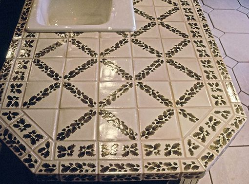 Custom Made Kitchen Tile: Custom Oak Leaf & Acorn Tile Patterns