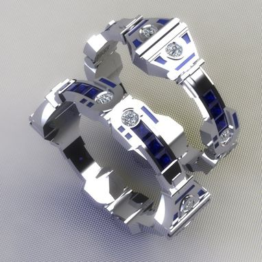 Custom Made R2d2 Wedding Bands