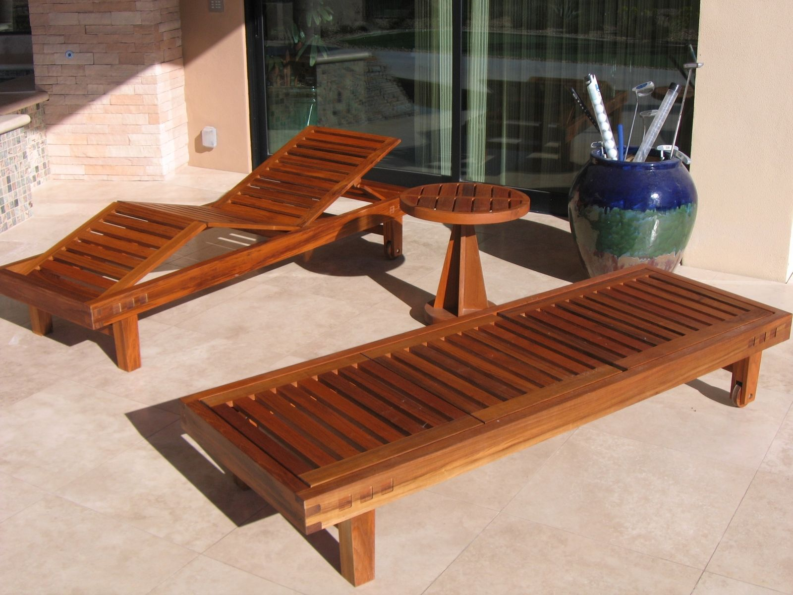 Handmade teak patio furniture by riverwoods mill for Teak outdoor furniture