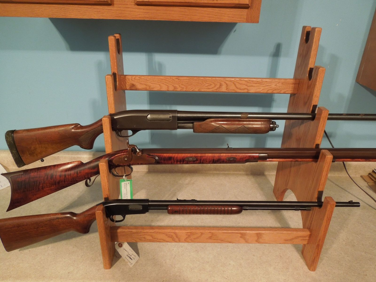 Buy A Hand Made 5 Gun Rack Display Unit To Order
