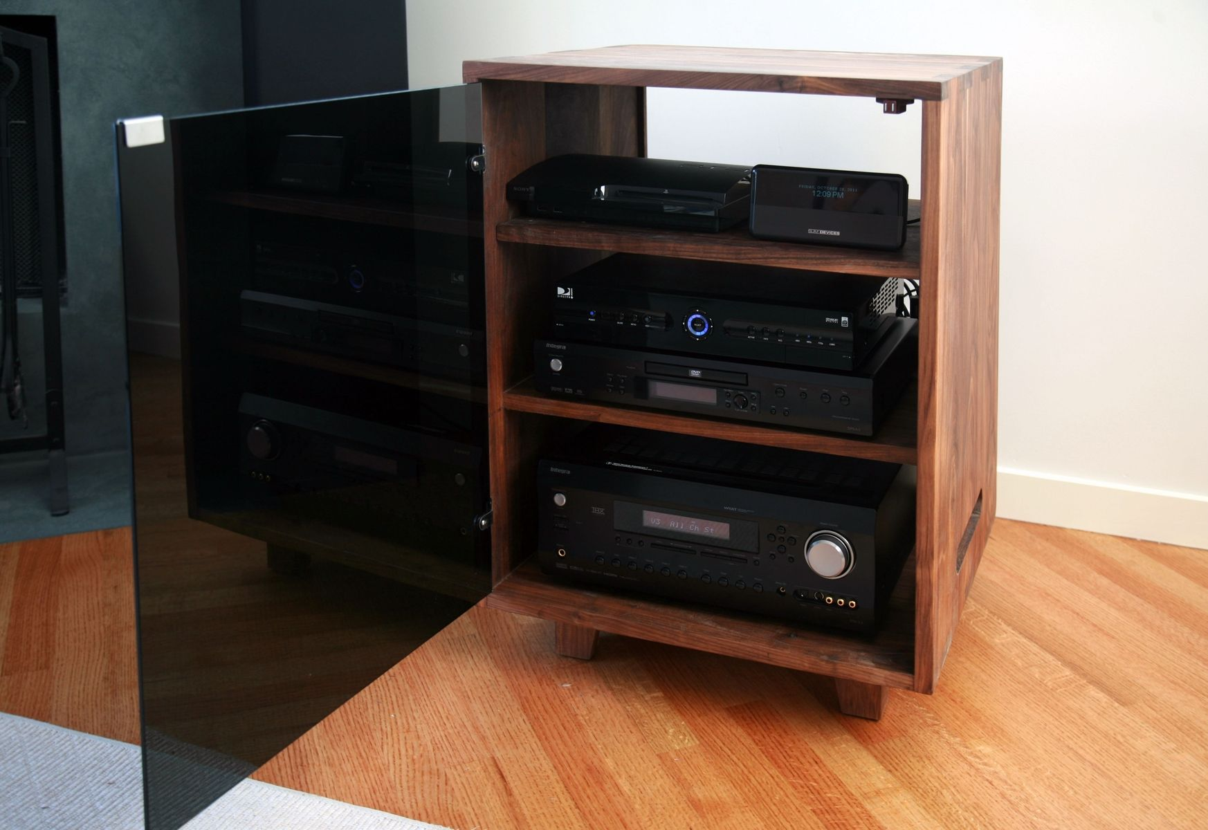 Custom made stereo cabinet by cress carpentry - Custom made cabinet ...