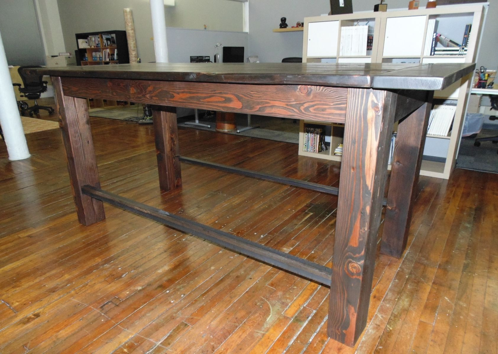 Custom Reclaimed Wood Farmhouse Industrial Pub Height