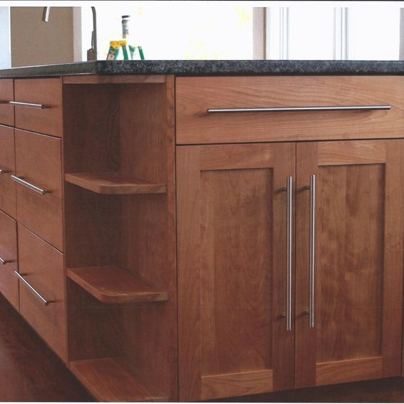Red Birch Kitchen Cabinets: Custom Made Contemporary Red Birch Kitchen By Jim's