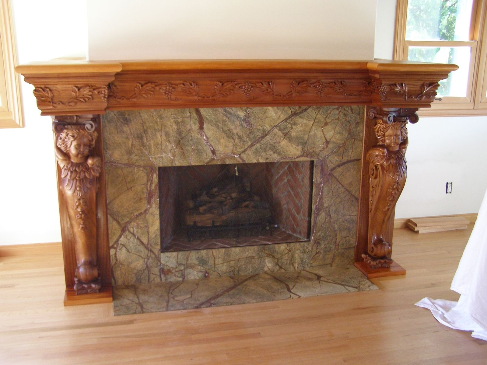 Custom Fireplace Mantel By Special Tree Productions