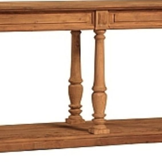 Hand Crafted Reclaimed Wood Console Table With Turned Legs By Mortise Tenon Custom Furniture