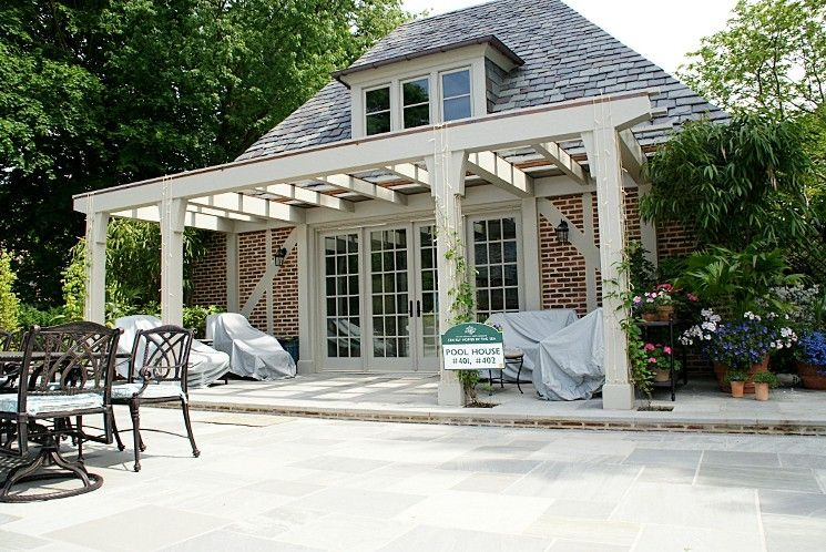 Hand Crafted Pool House Pergola By Lbm Design Custommade Com