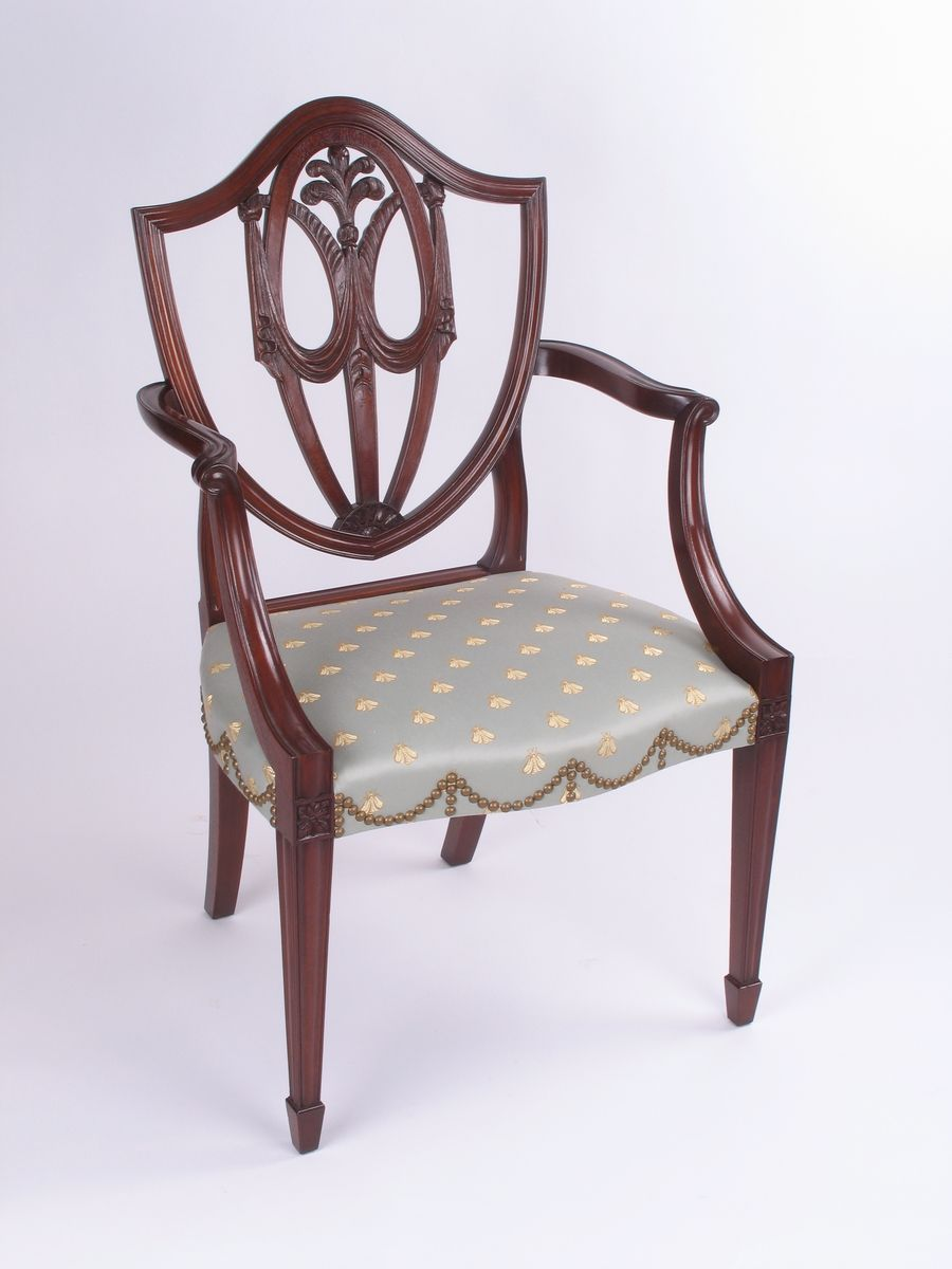 Hand Crafted Hepplewhite Arm Chair By E Jacobsen Furniture Maker Llc