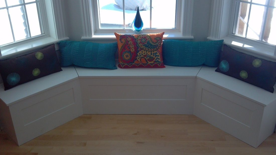 hand crafted custom breakfast nook built in by perspective