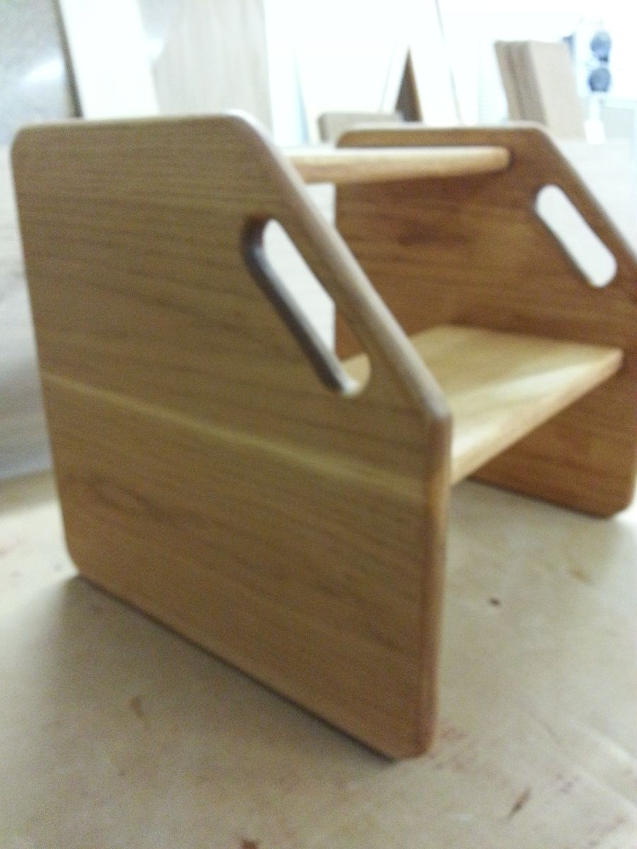 Hand Crafted Kitchen Step Stool By Windy Woods Woodworking