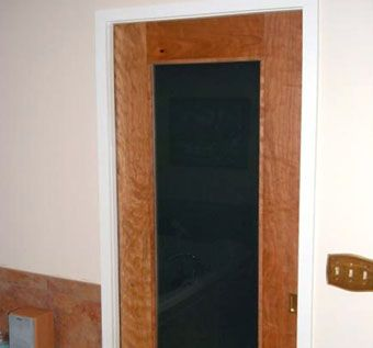 Custom Made Figured Cherry Pocket Door