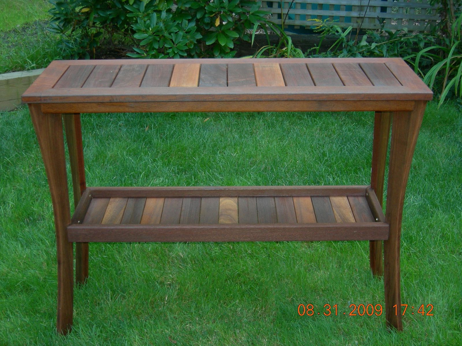 Hand Crafted Outdoor Serving Table By Papa S Workshop