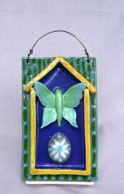 Custom Made Luna Moth With Exotic Egg 3-D Tile Wall Hanging