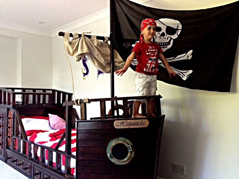 Custom Made Pirate Ship Adventure Bed By Isaac Hirst Fine