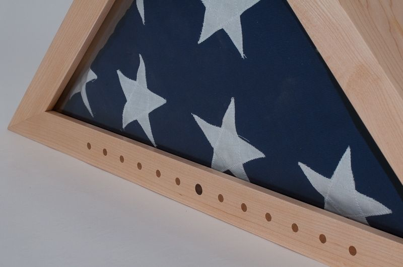 Custom Made Maple Flag Box By Stonehouse Woodworking