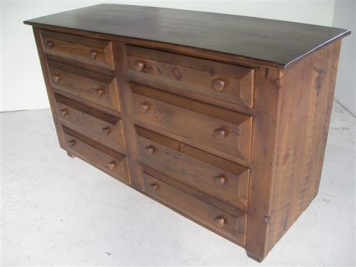 Custom Made Solid Barn Wood Bedroom Dresser With 8 Drawers
