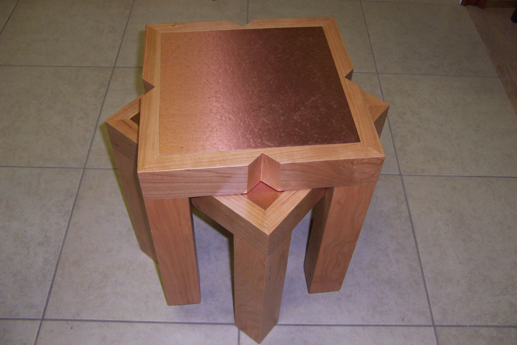 Hand Made Stackable Coffee Tables By Koering Custom Furniture Llc
