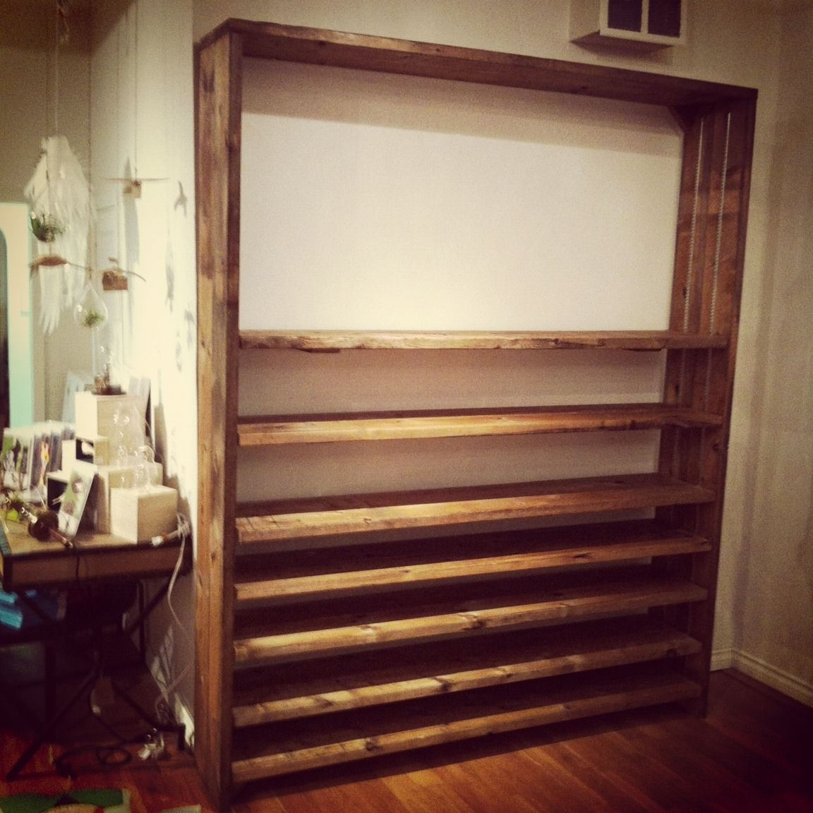 Superb img of Hand Made Adjustable Reclaimed Wood Shelves by J&S Reclaimed Wood  with #371319 color and 1152x1152 pixels