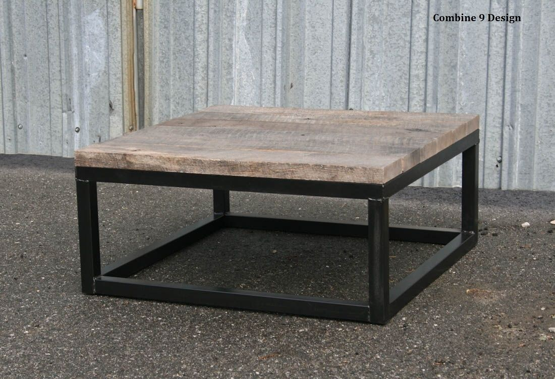 Buy A Hand Crafted Urban Loft Reclaimed Wood Coffee Table Modern Vintage Industrial Made To