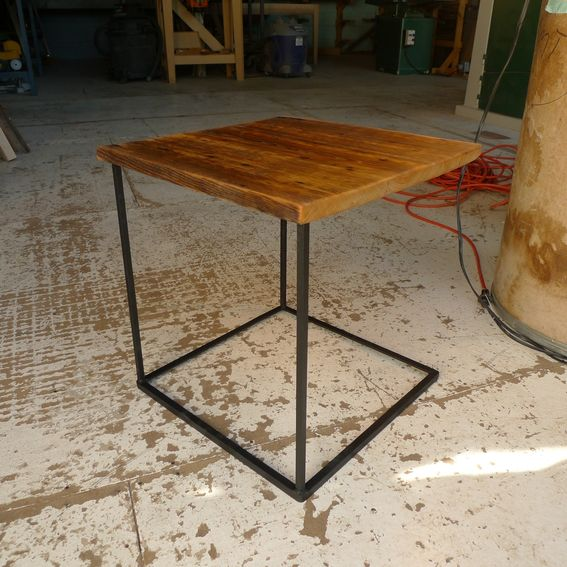 Custom upside tables repurposed metal local reclaimed for Local reclaimed wood