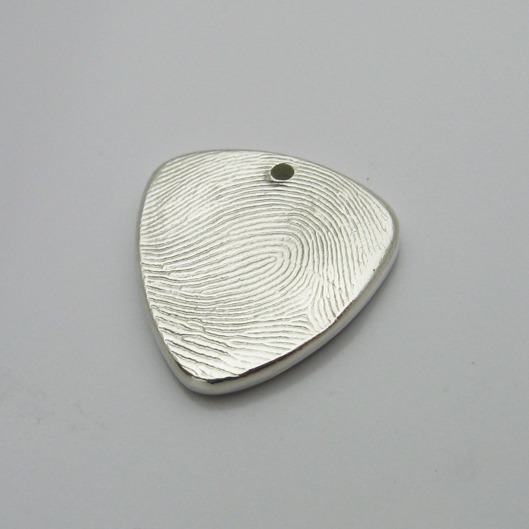 Buy a hand crafted personalized silver fingerprint guitar for Fingerprint jewelry by first impressions