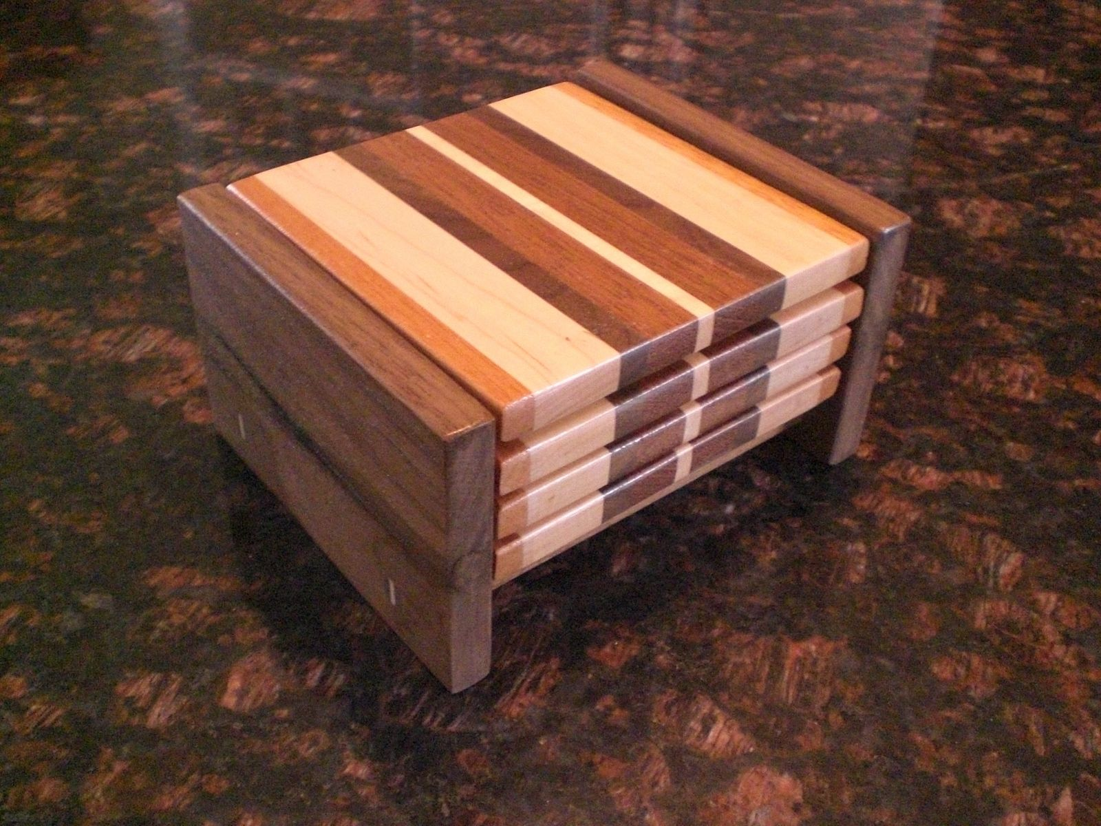 Handmade Wood Coasters By Oceanside Woodworking Inc