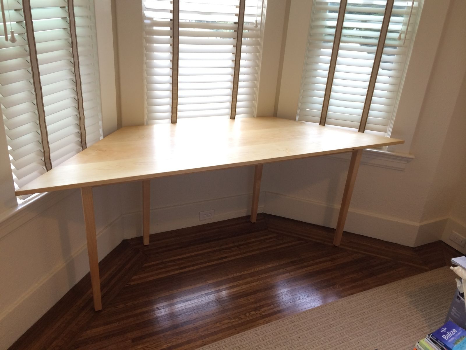 Hand Made Blake S Hard Maple Trapezoidtable For Bay Window