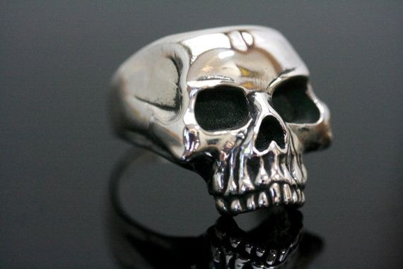 Hand Crafted Classic Skull Ring By Rebel Ideal