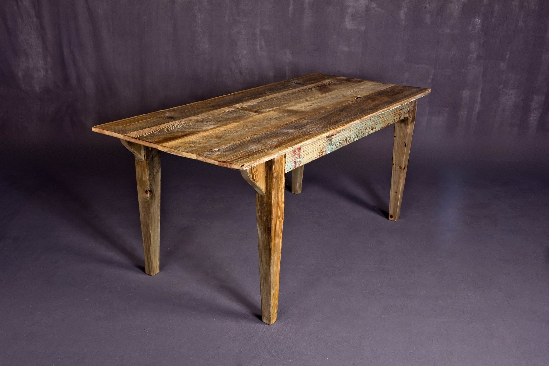 Barn wood dining room tables reclaimed idaho barn wood Furniture made from barn wood