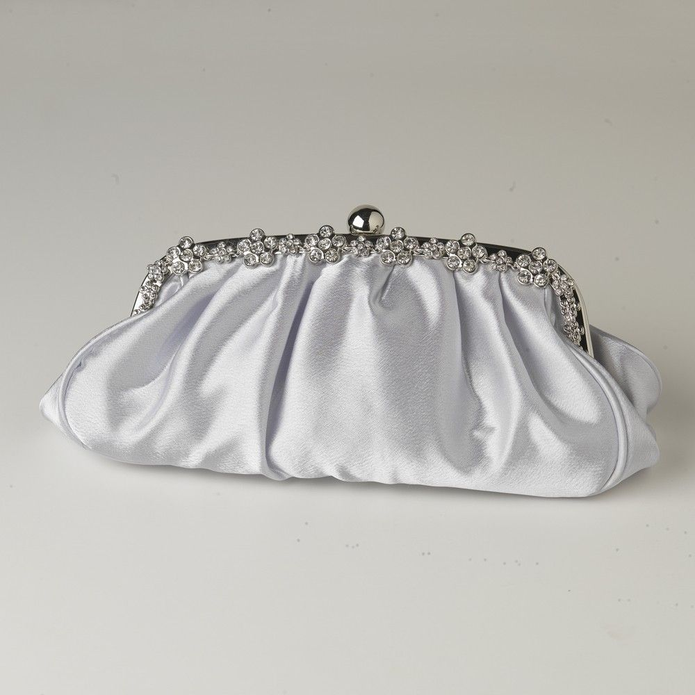 Silver Evening Bag With Shoulder Strap 4