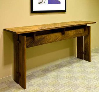 Custom Made Trilogy Console Table